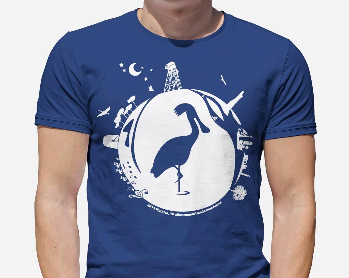 diseño camiseta Platalea Huelva