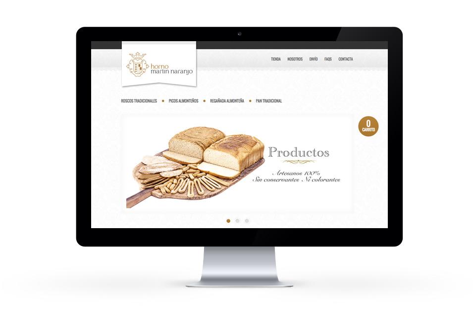 Diseño web tienda online Horno Martín Naranjo
