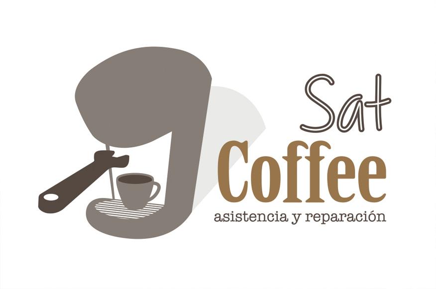 sat coffee Diseño de identidad corporativa Huelva logotipo