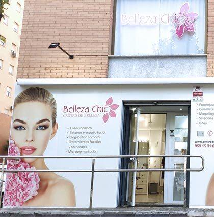 Diseño de fachada de Belleza Chic